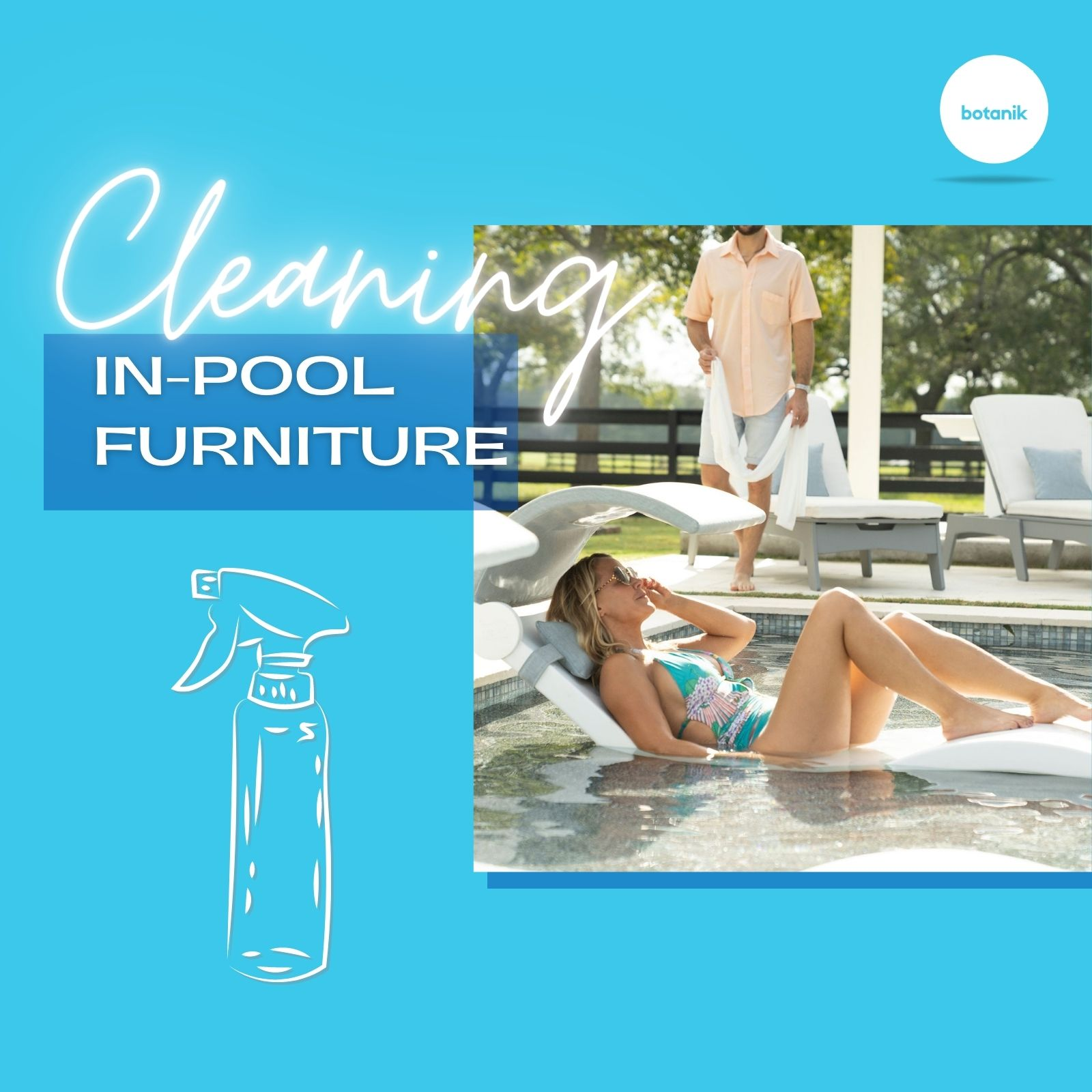 Cleaning In-Pool Furniture